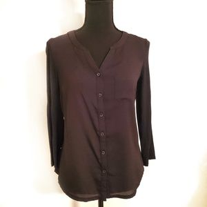 The Limited size XL black button down shirt